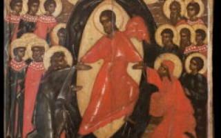 Икона господа воскресение христово сошествие во ад. Иконы России: Воскресение Христово — Сошествие во ад