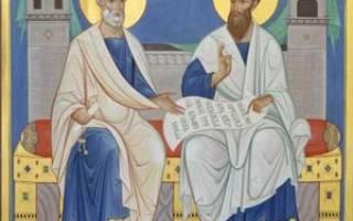 Святой петр биография. Святые апостолы Петр и Павел