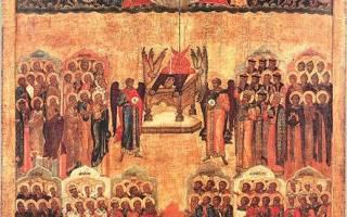 Как выглядит икона всем святым. Почитаемые иконы святых и их значение