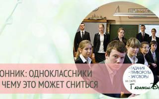 К чему снятся Одноклассники? К чему снится школа и одноклассники.