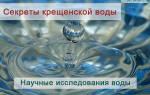Вода из крана на крещение. Наука подтвердила чудо крещенской воды
