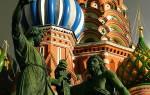 Главный символ россии — храм василия блаженного.