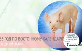 Водяная свинья 1983. Кто родился в этот год