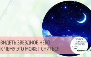 Звездное небо во сне к чему. Красивое звездное небо