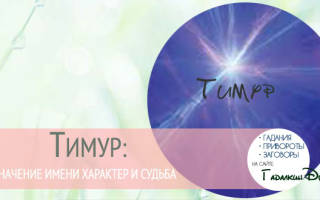 Тимур что означает. Тимур: значение имени, характер и судьба
