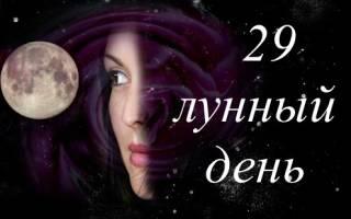 29 лунный день как вести. й лунный день