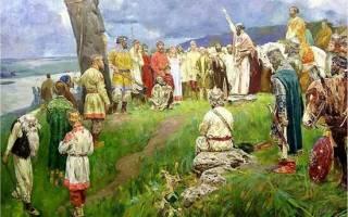 Кому поклонялись славяне до крещения. Какая вера была в древней руси до принятия христианства