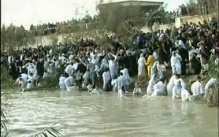 Река иордан течет в обратную сторону. Место крещения Христа