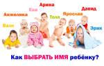Выбрать правильное имя ребенку. Красивые и оригинальные имена ребенку: список имен для девочек и мальчиков, советы по выбору