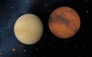 Венера соединение марс в стрельце натал. Соединение венера — марс